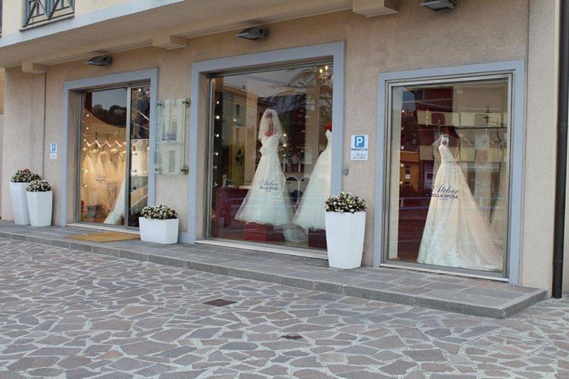 vetrina atelier della sposa san marino rimini