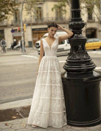 Abito da sposa modello Olmo di Rosa Clarà