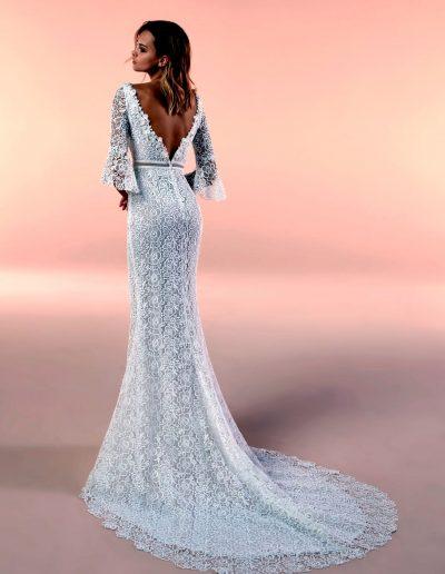 Abito da sposa modello 20051 di Nicole boho-chic