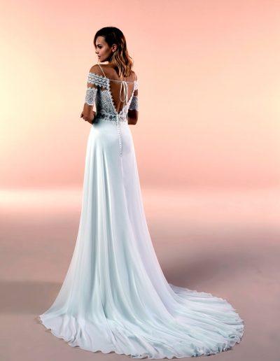 Abito da sposa modello 20091 di Nicole boho-chic