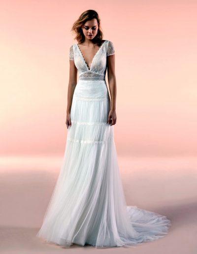 Abito da sposa modello 20121 di Nicoke boho-chic