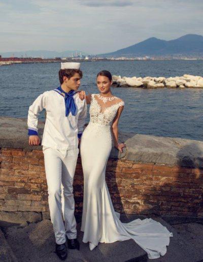 Abito da sposa modello Lilium di Capri